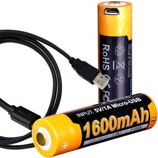 Bateria Pila Recargable Usb Fenix Arb-l14 1600mah 14500 1.5v