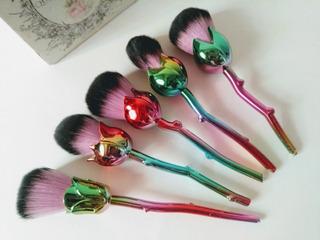 Brochas Para Maquillaje Forma De Rosa
