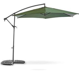 Parasol De Brazo Plegable De 3m Color Verde