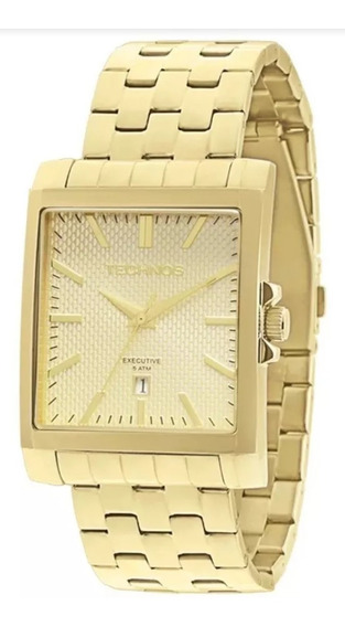 Relógio Masculino Dourado Technos Executive 2115koz/4x.