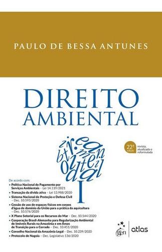 Imagem 1 de 1 de Direito Ambiental Paulo De Bessa Antunes 2021