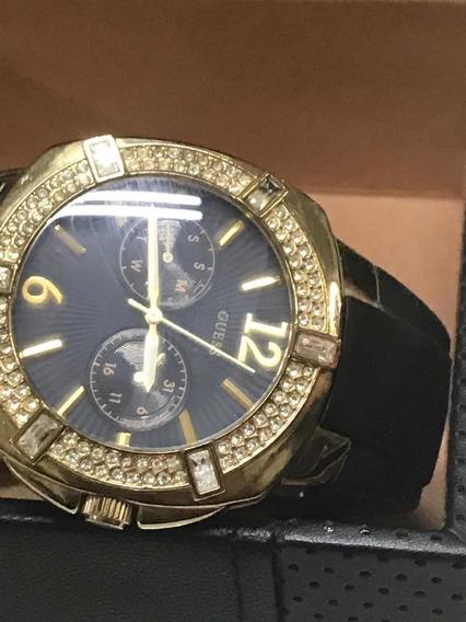 Relógio Feminino Guess,cristais Swarovski,preto