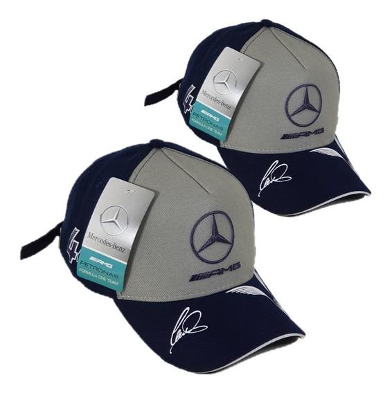 Boné Mercedes Benz Amg Petronas Fitão Strapback Fita Barato