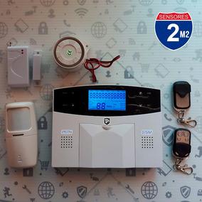 Kit 2 Alarma Gsm Tel Alertas Sms Inalambrica Vecinal Casa M2