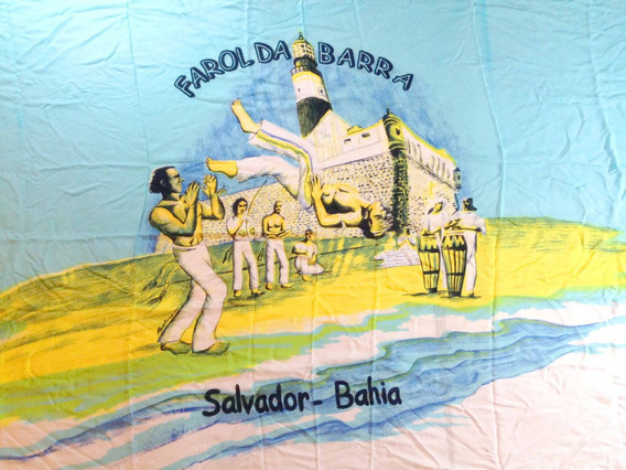 Canga Saída De Praia Capoeira Salvador Bahia Verão Luxo Sol