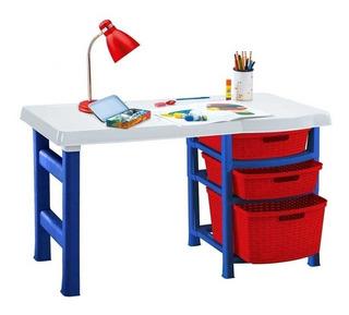 Escritorio Infatil De Niño + Silla Infantil Plastico Rimax