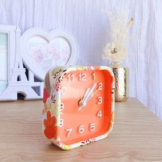 Reloj Despertador Vintage Redondo Con Alarma Naranja C/pluma