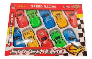 Autitos De Carrera Juguete X10 Auto Speed Racing Cuotas