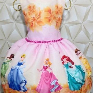 Lindo Vestido Princesas Disney!!!