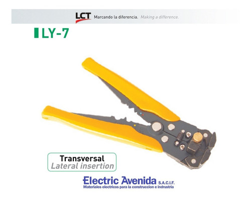 Imagen 1 de 6 de Pinza Pela Cables Transversal Crimpreadora 1 - 6 Mm Lct Ly-7