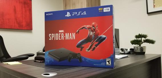 Playstation 4 Slim 1tb Spiderman Bundle +juego