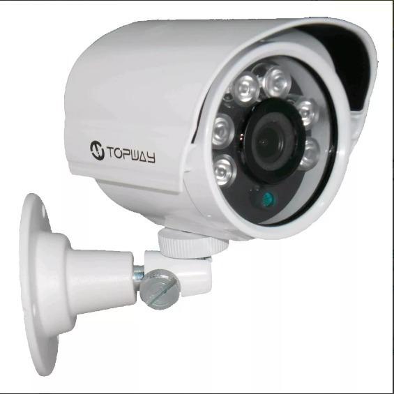 Câmera De Segurança Falsa Com Infra, 6 Leds, 12v, Metal