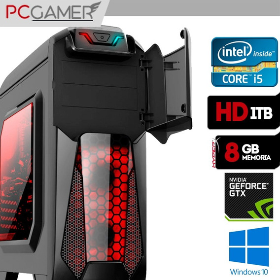 Pc Gamer Cg-01t8 Intel I5 8gb Ram Gtx 1050 1tb W10