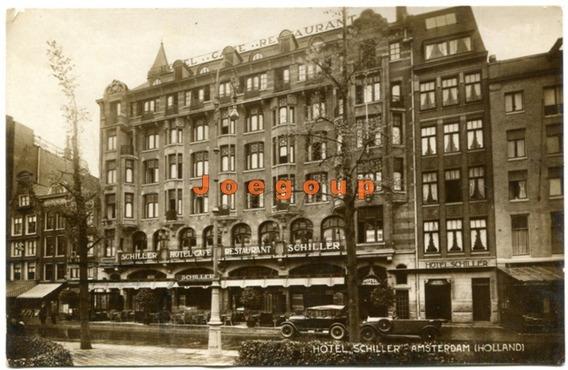 Postal Hotel Cafe Restaurant Schiller Amsterdam Holanda 1929