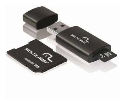Cartão De Memória Multilaser + Usb Com Adaptador
