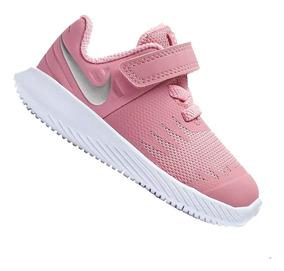 Tênis Calçado Nike Star Runner De Menina Rosa - Original