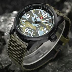 Relógio Naviforce 9080 Camuflado Militar Original Promoção