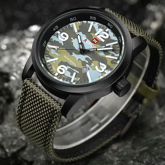 Relógio Naviforce Analógico Luxo Militar Original Promoção