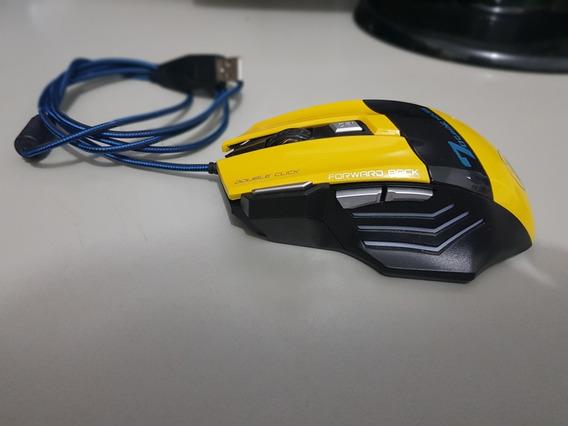 Mouse Gamer Estone X7 / 2400dpi / 7 Botões (amarelo)