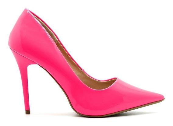 Scarpin Royalz Verniz Neon Fluorescente Penélope Pink