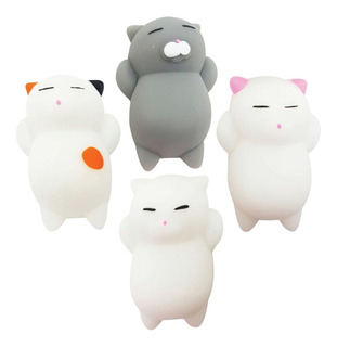 Gatito Squishy Kawaii Juguete 4 Piezas De Gato Mochi Cat =)