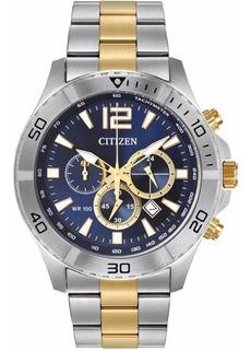 Reloj Citizen Hombre Crono 100m Fecha Taquímetro An812456l