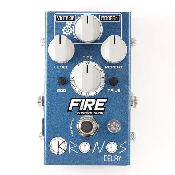 Pedal Kronos Delay Vintage Fire Efeito Guitarra Nota Fiscal