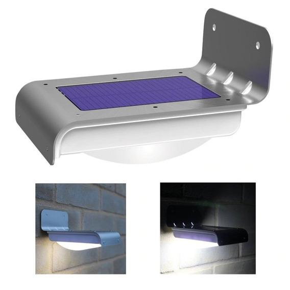 Lampada Led Solar 16 Leds Fácil Instalação Luminária