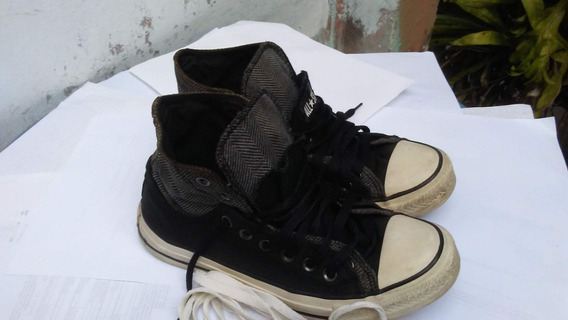 Zapatos Converse Tipo Botines Doble Trenzas