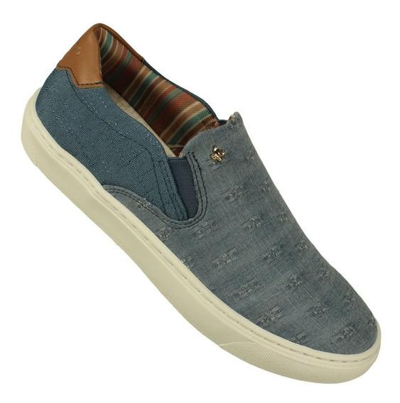 Tênis Feminino Cravo & Canela Casual Slip On Jeans 136433-10