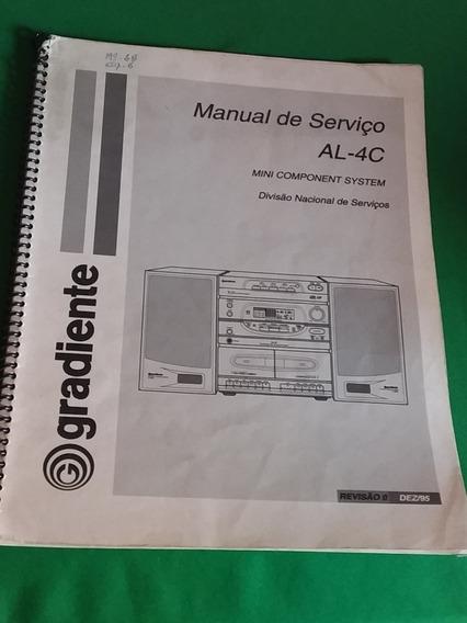 Micro System Gradiente Manual De Serviço Al-4c