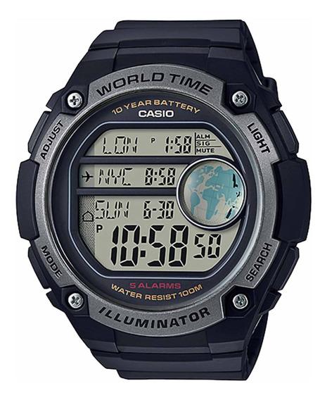 Relógio Casio Ae-3000w-1avdf Padrão Masculino Pret- Refinado