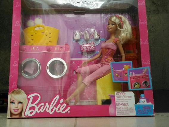 Coleção Barbie Itens Da Casa - Máquina De Lavar + Acessórios