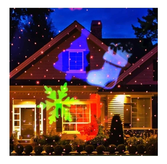 Espeto Laser Jardim Projetor Bivolt Luzes Natal Com Desenhos