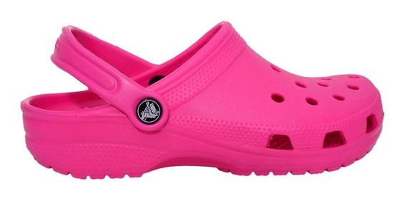 Crocs Crocband Classic Mujer Sandalias Zuecos Originales Rosa Candy Pink