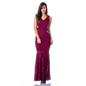 ff697b3c2 Vestido Vermelho Longo Com Abertura Lateral Nas Pernas - Vestidos ...
