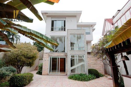 Casa Com 3 Dorms À Venda, 380 M² Por R$ 3.900.000 - Pacaembu - São Paulo/sp - Ca5357