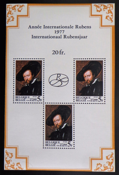 Bélgica Arte, Bloque Sc. 992a Rubens 1977 Mint L10322