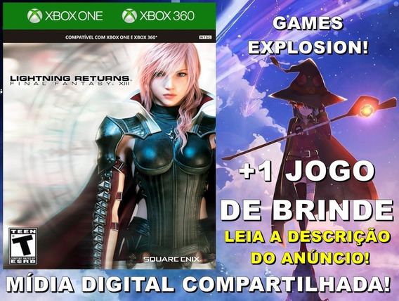 Final Fantasy Xiii Lightning Returns Xbox 360/ One +1 Jogo