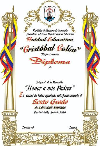 Diplomas Medallas Botones