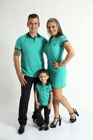 Kit Família Camisa Polo E Vestido Composto Por 4 Peças.