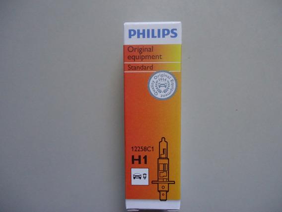 Lampada Comum 12v Modelo H1 55w Original Philips 12258 (par)