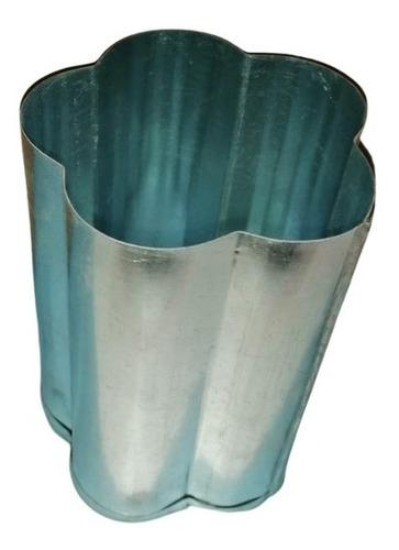 Molde Para Velas De Chapa Galvanizada Flor 8,5cmx8,5cmx12cm