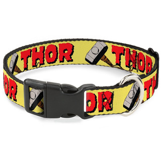 Buckle-down Thor & Hammer Yellow/red Breakaway Cat Collar,