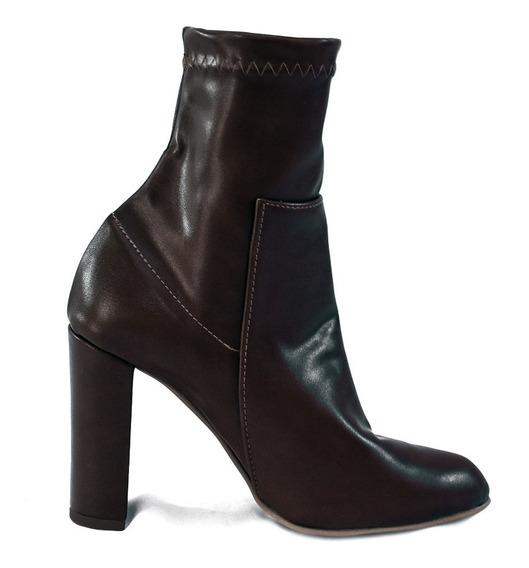 Zapatos Botin Para Mujer Dama Tacon Colores Modelos Diseño Calidad -01