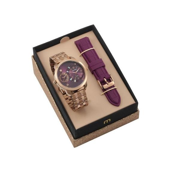 Relógio Mondaine Fem Ad Feixo Metal + Feixo Silcone 76715