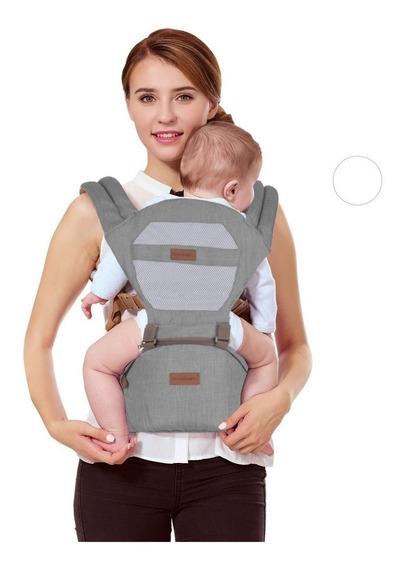 Canguru Ergonômico 5way Maxi Baby Hipseat (15kg) - Cinza