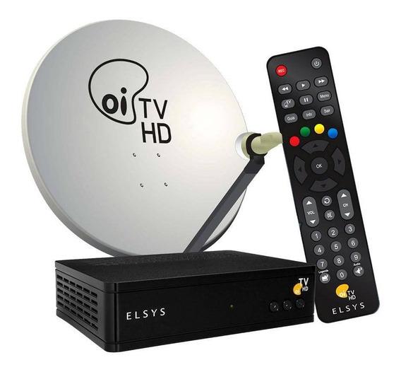 Oi Tv Hd Livre Receptor C/antena +habilitação + Lnbf