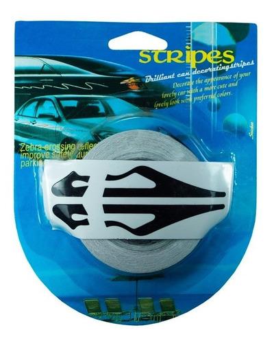 Imagen 1 de 1 de Rollo Franjas Deportivas Para Auto Negro Calcomania Sticker