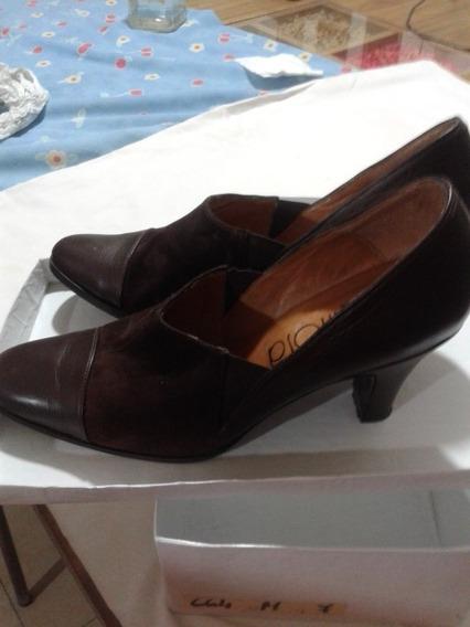 Zapatos Cuero De Mujer, Como Nuevos , 37, Marca Larrosa